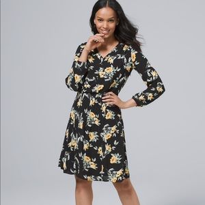 NWT WHBM FLORAL PINTUCKED BLOUSON DRESS